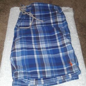 •NWT• Polo Ralph Lauren Blue Plaid Shorts